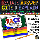 R.A.C.E Writing Strategy Interactive Flip Book: For Teache