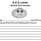 R.E.D Letter- Behavior Alert