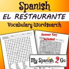 RESTAURANT: and Place Settings-- Wordsearch