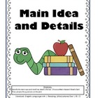 RI.1.2 First Grade Common Core Worksheets, Activity, and Poster