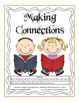RI.K.3 Kindergarten Common Core Worksheets, Activity, and Poster