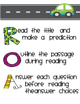 """ROADS"" Bookmarks and Poster for Reading Tests {FREEBIE}"