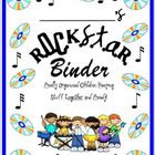ROCKSTAR notebook binder cover {freebie}