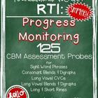 RTI: 125 CBM's for Progress Monitoring Literacy Interventi