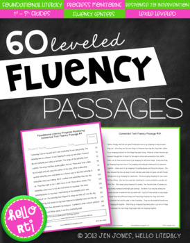 RTI: 60 Fluency Passages for Progress Monitoring Reading Skills & Interventions