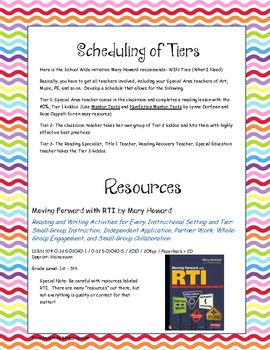 RTI Notes from Mary Howard Workshop