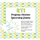 RTI Progress Monitoring Charts