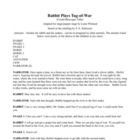 Rabbit Plays Tug of War: script from a Creek/Muscogee Tribe tale