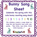 Rabbit Song Sheet