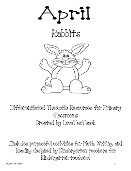 Rabbits:  Purposful activites for Math, Writing, and Readi