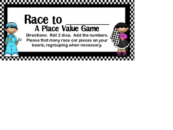 Race to (Any Number) - A Place Value Game