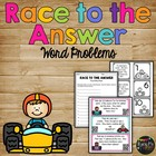 Race to the Answer Word Problems Matching Game  First Grade