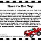 Race to the Top Sight Word center game