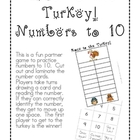 Race to the Turkey!  Numbers to 10