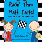 Racin&#039; Thru Math Facts! Addition &amp; Subtraction