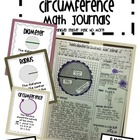 Radius, Diameter, and Circumference Math Journal Set