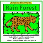 Rain Forest Thematic Unit