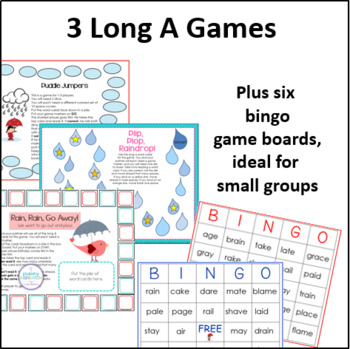 Rain, Rain, Go Away: Long A Games and Activities