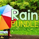 Rain Showers Literacy Center and Writing Prompt Bundle for April