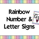 Rainbow Alphabet &amp; Numbers
