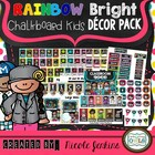 Rainbow Bright Chalkboard Kids Decor Pack