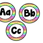Rainbow Chevron Alphabet and Beginning Sounds Pictures