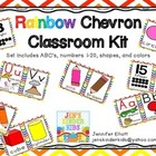 Rainbow Chevron Classroom Kit