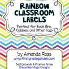 Rainbow Classroom Labels