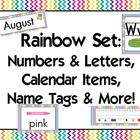 Rainbow Classroom Set {Alphabet, Numbers, Name tags, Calen