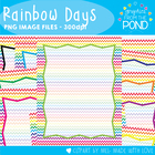 Rainbow Days Paper + Borders - Graphics From the Pond