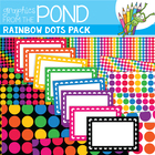 Rainbow Dots Graphics Pack - Papers and Frames