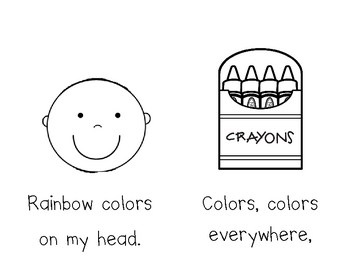 Rainbow Hair Emergent Reader