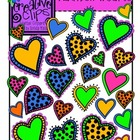 Rainbow Hearts {Creative Clips Digital Clipart}