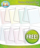 FREE 14 Rainbow Notebook Paper Set 1 Clipart
