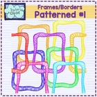 Rainbow Patterned frames - borders clipart- Teacher's Clipart