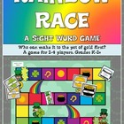 Rainbow Race- A Sight Word Game