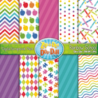 Rainbow School Digital Scrapbook Pack (10 Pages)
