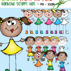 Rainbow Scrappy Kids - Clipart for Teachers