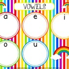 Rainbow Short Vowel Sorting Mat Activity - FREE