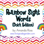 Rainbow Sight Word Cards {Dolch Edition}