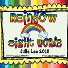 Rainbow Sight Words Fun