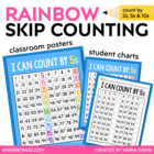 Rainbow Skip Counting Teacher Charts, Student Charts &amp; Pra