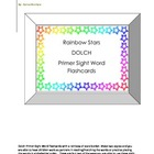 Rainbow Stars   DOLCH Primer Sight Word Flashcards
