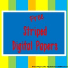 Rainbow Stripes Digital Paper Pack Freebie