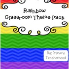 Rainbow Theme: Classroom Decor Pack