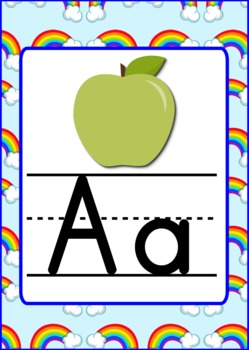 Rainbow Themed Alphabet Posters