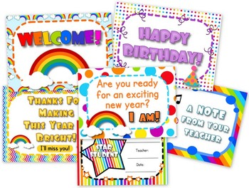 Rainbow Themed Postcards