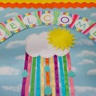 Rainbow Welcome Banner Letters Classroom Decor