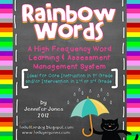 Rainbow Words: A High Frequency Word Learning & Assessment System