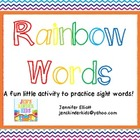 Rainbow Words Sight Word Activities